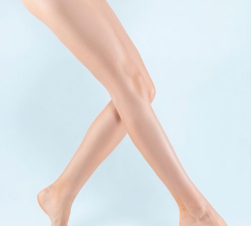 Perfect female legs in underwear.